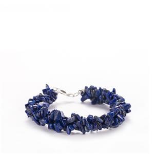 80ct Sar-i-Sang Lapis Lazuli Sterling Silver Bracelet