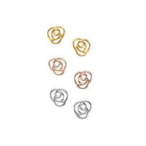 Sterling Silver Set of 3 Earrings
