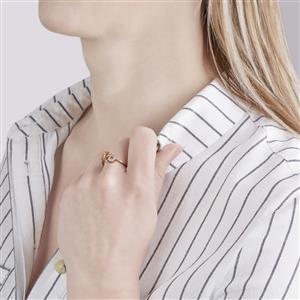 Ceylon Imperial Garnet Ring with White Zircon in 9K Gold 1.04ct