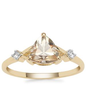 Csarite® Ring with White Zircon in 9K Gold 1.34cts
