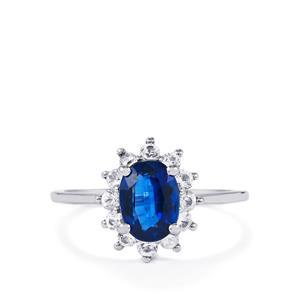 Daha Kyanite & Sri Lankan White Sapphire 10K White Gold Ring ATGW 2.04cts