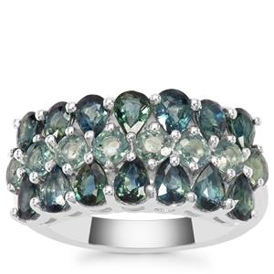 Natural Umba Sapphire Ring With Blue Sapphire in Sterling Silver 4.32cts