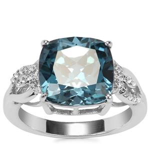 Versailles Topaz Ring with White Topaz in Sterling Silver 6.61cts