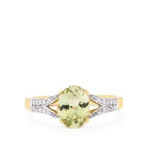 Ultraviolet Colour Change Garnet & Diamond 14K Gold Tomas Rae Ring ATGW 1.66cts