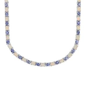 AA Tanzanite Necklace with Ethiopian Opal in Sterling Silver 15.90cts