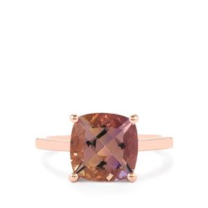 Anahi Ametrine Ring in Rose Gold Plated Sterling Silver 3.54cts