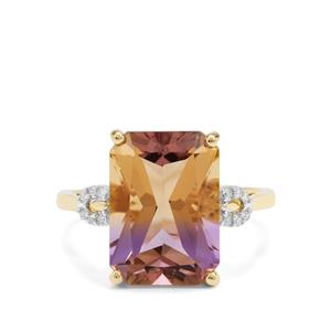Anahi Ametrine Ring with Diamond in 9K Gold 5.94cts