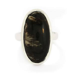 11.00ct Midnight Seraphinite Sterling Silver Aryonna Ring