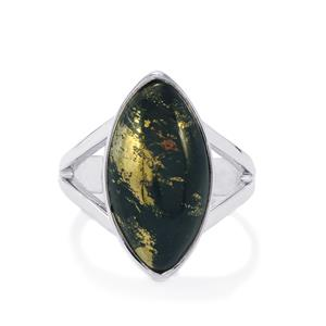 Apache Gold Pyrite Ring in Sterling Silver 9cts