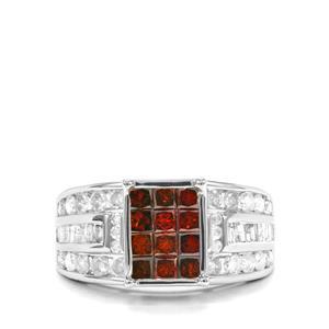 1.95ct Red & White Diamond 10K Gold Tomas Rae Ring