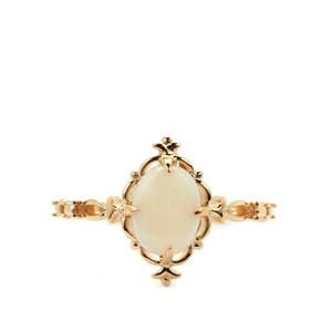 Coober Pedy Opal Ring in 9K Gold 0.75ct