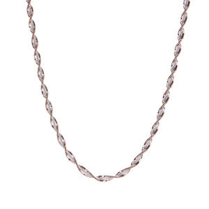 """18"""" Two Tone Sterling Silver Couture Twist Chain 4.12g"""