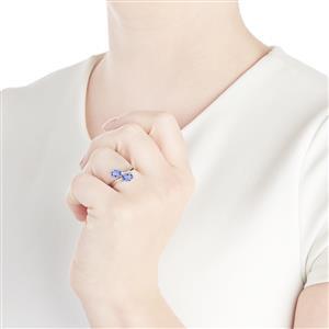 1.44ct AA Tanzanite 10K White Gold Ring