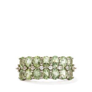 Lemanja Amblygonite & White Zircon 9K White Gold Ring ATGW 2.33cts