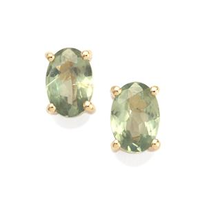 Alexandrite Earrings in 9K Gold 0.97cts
