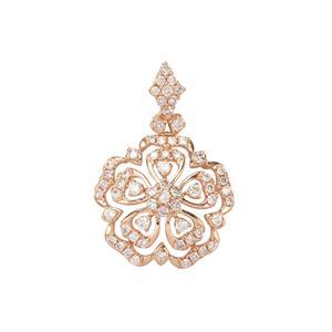 3/4ct Pink Diamond 18K Rose Gold Tomas Rae Pendant
