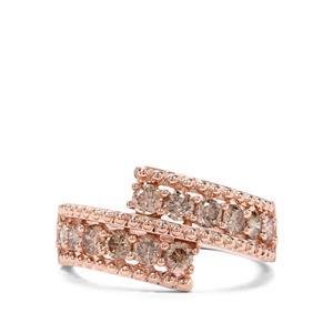 1.03ct Argyle Diamond 9K Rose Gold Ring