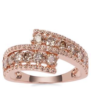 Argyle Diamond Ring in 9K Rose Gold 1.03cts