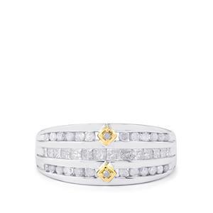 3/4ct Diamond 9K Two Tone Gold Tomas Rae Ring