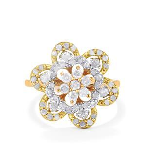 1ct Diamond Three Tone Midas Ring