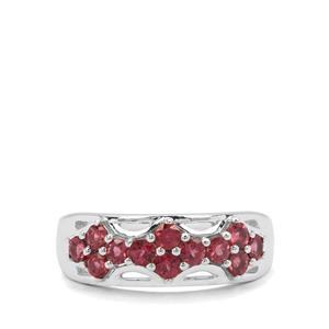 1.07ct Rajasthan Garnet Sterling Silver Ring