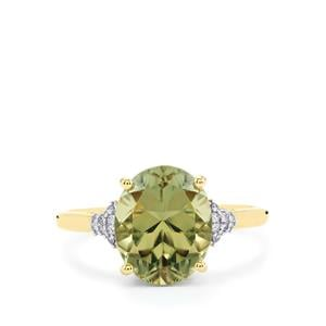 Csarite® Ring with Diamond in 14K Gold 4.38cts