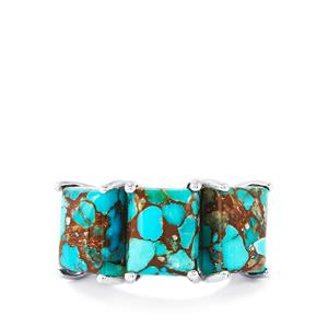 15.06ct Egyptian Turquoise Sterling Silver Ring