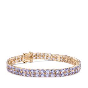 AA Tanzanite Bracelet in 9k Gold 14.61cts