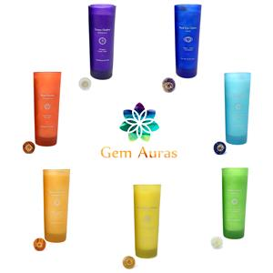 Gem Auras Tall Chakra Candles with Meditation Stone for 2021