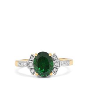 Tsavorite Garnet & Diamond 18K Gold Tomas Rae Ring MTGW 2.50cts