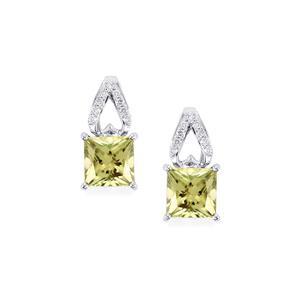 Csarite® & Diamond 14K White Gold Earrings ATGW 2.62cts