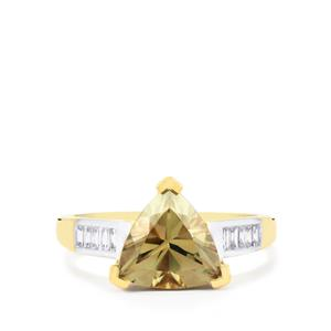 Csarite® Ring with Diamond in 18K Gold 2.71cts