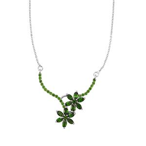 4.16ct Chrome Diopside Sterling Silver Necklace