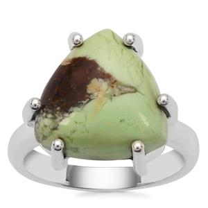 Queensland Chrysoprase Ring in Sterling Silver 9cts