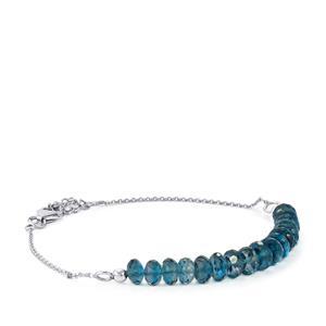 Marambaia London Blue Topaz Graduated Bead Bracelet in Sterling Silver 21cts