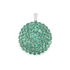 Zambian Emerald Pendant in Sterling Silver 7cts