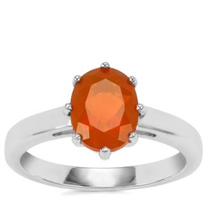 AA Orange American Fire Opal Ring in Sterling Silver 1.34cts