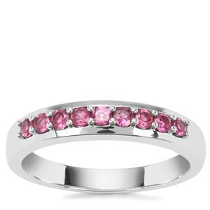 Rajasthan Garnet Ring in Sterling Silver 0.42ct