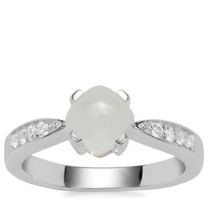 Aquaprase™ Ring with White Zircon in Sterling Silver 1.23cts