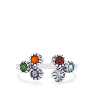 Kaleidoscope Gemstones Ring in Sterling Silver 0.66cts