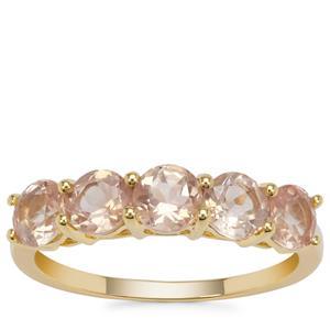 Peach Parti Oregon Sunstone Ring in 9K Gold 1.72cts