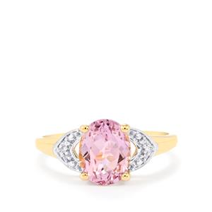 Mawi Kunzite Ring with Diamond in 10k Gold 2.55cts