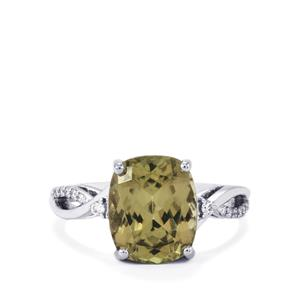 Csarite® Ring with Diamond in 18k White Gold 4.71cts