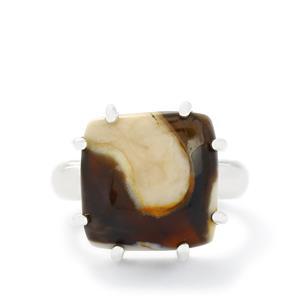 10.00ct Peanut wood Sterling Silver Aryonna Ring