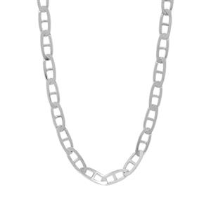 "18"" Sterling Silver Tempo Diamond Cut Mariner Chain 2.57g"