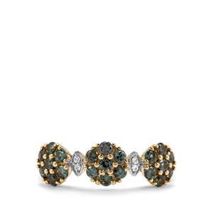 Miova Loko Garnet & White Sapphire 9K Gold Ring ATGW 0.91ct