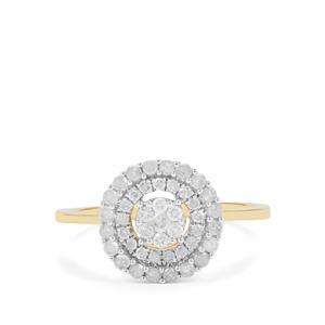 Diamond Ring in 9K Gold 0.54ct