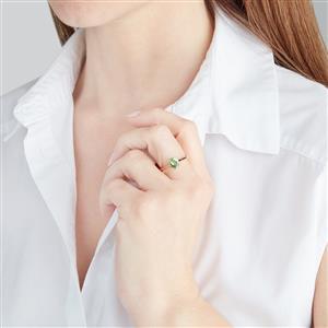 Ultraviolet Color Change Garnet Ring in 18k Gold 1.10cts