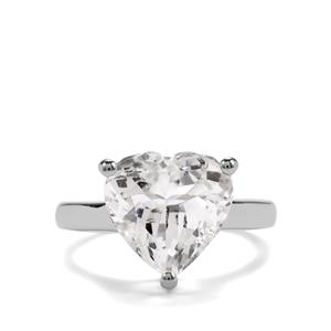 6ct White Topaz Sterling Silver Hollywood Ring