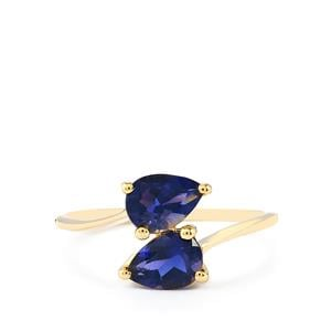 Bengal Iolite Ring  in 10k Gold 1.12cts